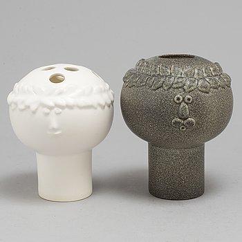 Two Stig Lindberg stoneware vases, for K-Studion.
