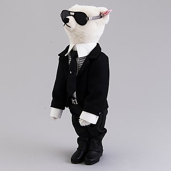 A Karl Lagerfeld Steiff Teddy Bear, Limited edition, numbered 1190/2500, Germany 2009.