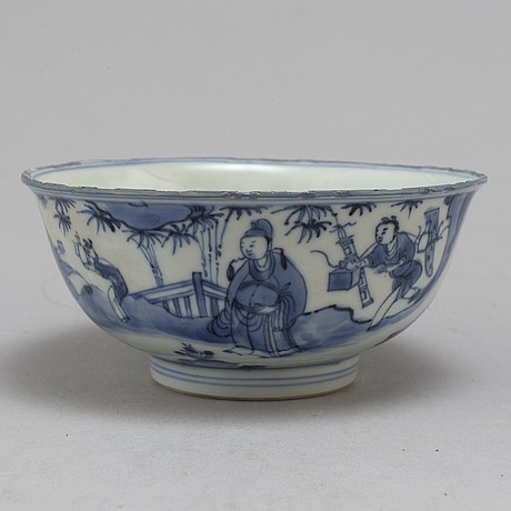 A blue and white bowl, qing dynasty, kangxi (1662 1722)