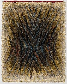 IRMELIN GRÖNLUND, a Finnish longpile rug for Taidekutomo Laura Korpikaivo-Tamminen. Circa 165x130 cm.