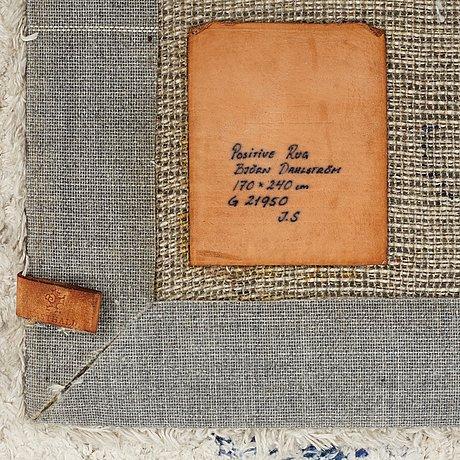 "Björn dahlström, a carpet, ""positive rug"", hand tufted, ca 232 x 167 cm, björn dahlström for kasthall, sweden."
