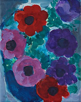 "416. Inge Schiöler, ""Blommande Anemoner""."