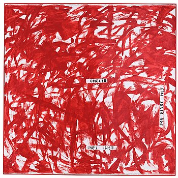 Elis Eriksson, signed EEE through Anita Jobsmyr on verso. Canvas 208 x 208 cm.