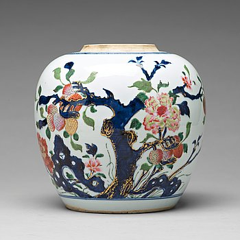 A famille rose ginger jar, Qing dynasty, 18th Century.