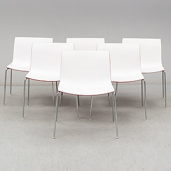 LIEVORE ALTHERR MOLINA, six 'Catifa' chairs, Italy, 21st Century.