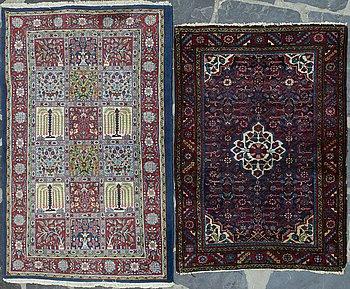 Two oriental carpets.