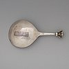 A swedish early 17th century parcel-gilt spoon, unmarked.