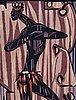 Lars gynning, vävd tapet, slätväv, ca 123,5 x 84 cm,  signerad mtp fino gynning.