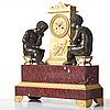 """A """"mer du blanche, mer du nord"""" mantel clock, french empire, early 19th century"""