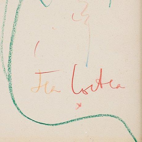 """Jean cocteau, """"faune à l'oeil vert""""."""