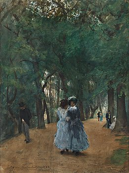 "437. Anders Zorn, ""Promenad i parken"" (A walk in the park)."