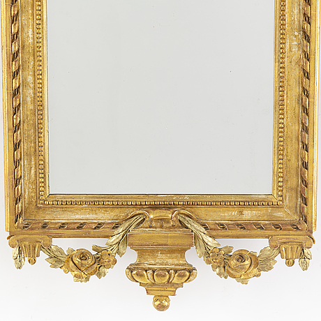 A gustavian late 18th century mirror.