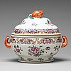 A famille rose tureen with cover, qing dynasty, qianlong (1736-95).