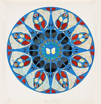"313. Damien Hirst, ""Psalm print - Deus, deus meus""."