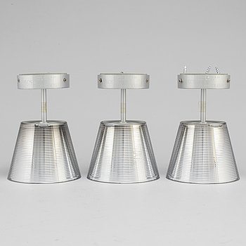 "PHILIPPE STARCK, ""Romeo Babe"", a set of three ceiling lights."