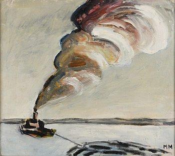 MAUNO MARKKULA, oil on canvas laid on board, signed MM.