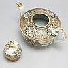 A large canton famille rose tea pot with cover, qing dynasty, 19th century