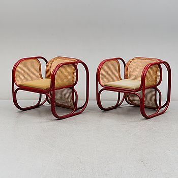 JAN BOCAN, easy chairs, a pair, late 20th century.