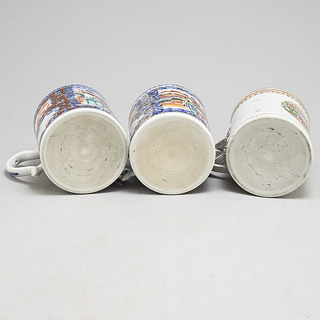 Three famille rose jugs, qing dynasty, qianlong (1736 95)