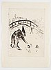 Marc chagall, marc chagall, 21 etchings from the edition of 50 examples on japon nacré, 1923-1948 (published by teriade, paris 1948).