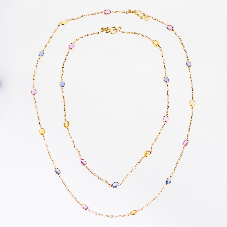 NECKLACES, 2 pcs, Temple St Clair, facetted sapphires, 18K