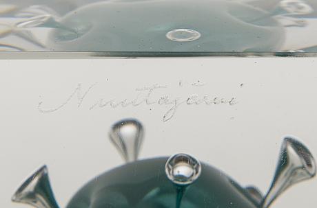 Oiva toikka, Årskub, glas, signerad oiva toikka nuutajärvi, märkt 117