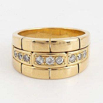 CARTIER, Ring med briljantslipade diamanter.