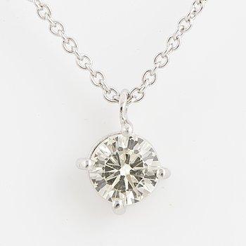 Brilliant-cut diamond collier.