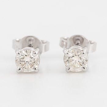 ENSTENSÖRHÄNGEN, med briljantslipade diamanter, med certifikat.