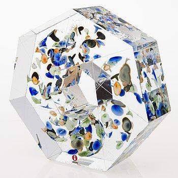 """OIVA TOIKKA, glasskulptur, """"Liplatus"""", signerad Oiva Toikka Iittala 2010 25/30."""