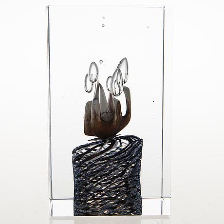 Oiva toikka, jubileumskub, glas, signerad oiva toikka nuutajärvi notsjö  02