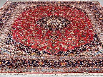 A CARPET, Kashan, around 401 x 295 cm.