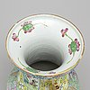 A famille rose vase, canton, qing dynasty, late 19th century,