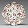 A famille rose flower shaped tray, qing dynasty, qianlong (1736-95).