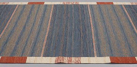 """Märta måås-fjetterström, a runner, """"malmstens gångmatta, blå"""", flat weave, ca 408,5 x 101 cm, signed ab mmf."""