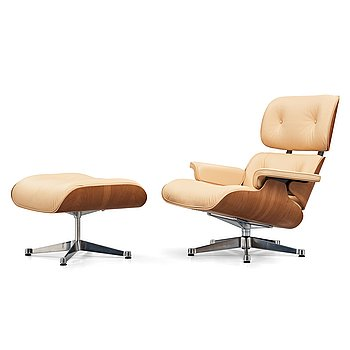 "8. Charles & Ray Eames, ""Lounge Chair with ottoman"" for Vitra, 21st century."