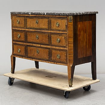 A late 18th century Louis XVI chest of drawers.