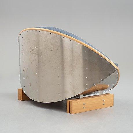 "Sigurdur gustafsson, sigurdur gustafsson, a ""keflavik"", beech, steel and leather sofa, källemo, sweden post 2000."