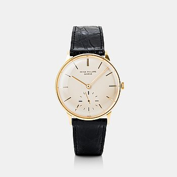 67. PATEK PHILIPPE, Calatrava, wristwatch, 34 mm.