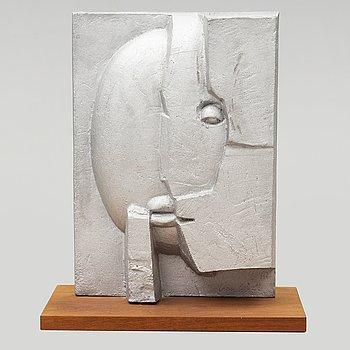 """ANN WOLFF, skulptur, """"Aluna"""", aluminium, Byarums Bruk. Signerad och numrerad 23/65."""