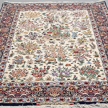 A CARPET, Esfahan, Signed Esfahan Miko Karzaadeh, around 239 x 157 cm.