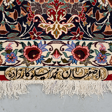 A carpet, esfahan, signed esfahan miko karzaadeh, around 239 x 157 cm