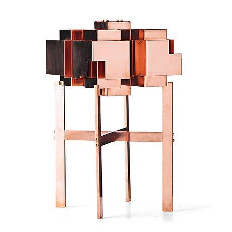 """Folkform, a """"suburban skyline"""" table lamp, studio folkform edition 2015"""