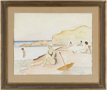 EINAR JOLIN, watercolor, signed and dated Arild june 1928.
