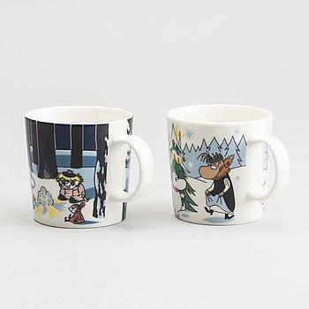 """MUMINMUGGAR 2 st, Arabia, """"Moomin Characters"""", 1990-tal."""
