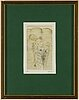 Hans bellmer, etching in colour, 1967, signed and numbered 39/150.