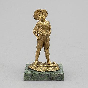 SKULPTUR, brons, Ryssland, sent 1800-tal, otydligt märkt.