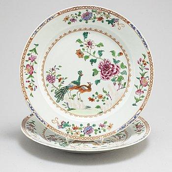 FAT, ett par, kompaniporslin. Qingdynastin, Qianlong (1736-95).
