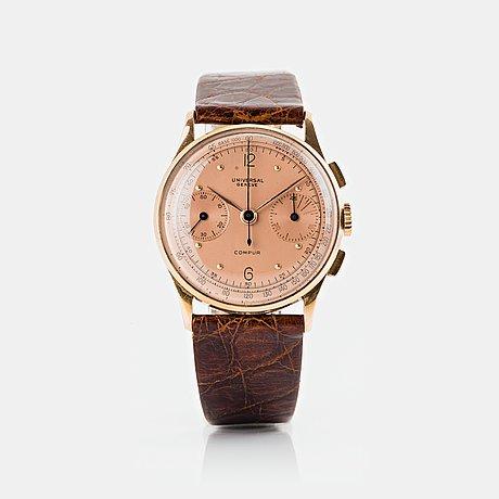 Universal genève, compur, chronograph.