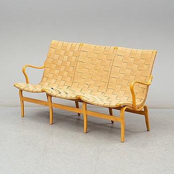 "BRUNO MATHSSON, soffa, ""Eva"", Firma Karl Mathsson, 1977."